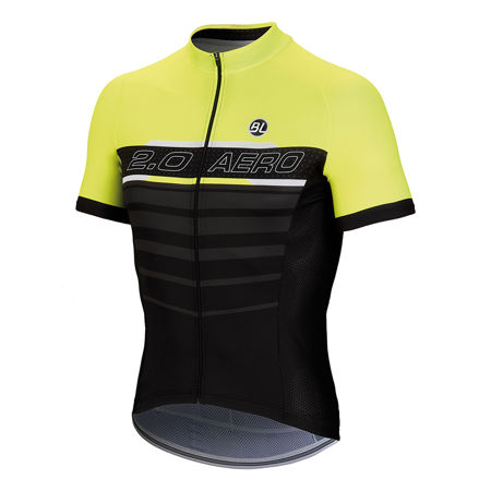 Picture of MAJICA BICYCLE LINE K/R AERO 2.0 BLACK/YELLOW FLUO