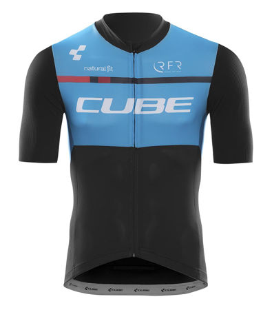 Picture of Majica Cube TEAMLINE SS black 'n' blue 'n' white 10940