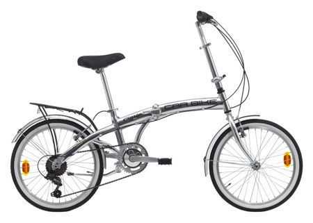 "Picture of Cinzia 20"" CARBIKE Alu 6B Polish Silver"