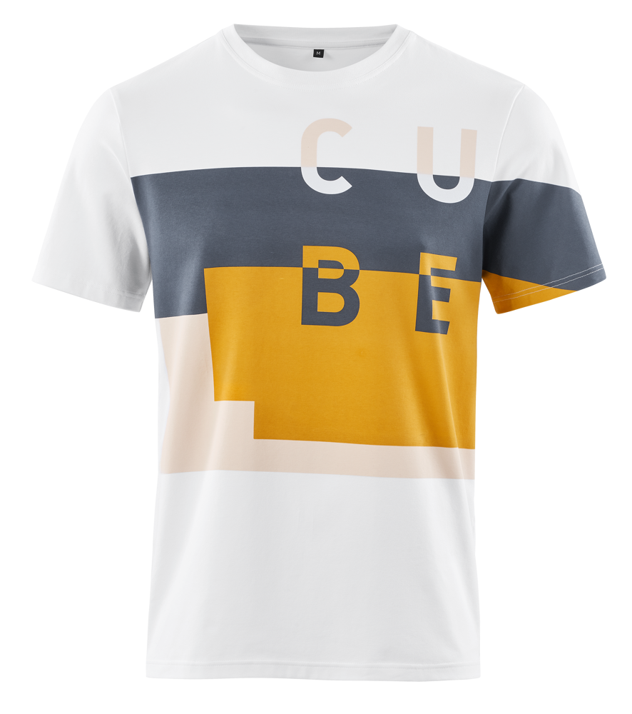 Picture of MAJICA CUBE T-SHIRT SERVICE COURSE WHITE'N'BLUE'N'YELLOW