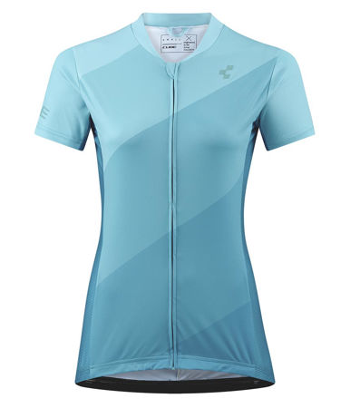 Picture of MAJICA CUBE TOUR WS FULL ZIP S/S BLUE PATTERN 11291