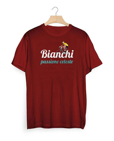Picture of MAJICA BIANCHI T-SHIRT PASSION CELESTE VINTAGE BORDEAUX