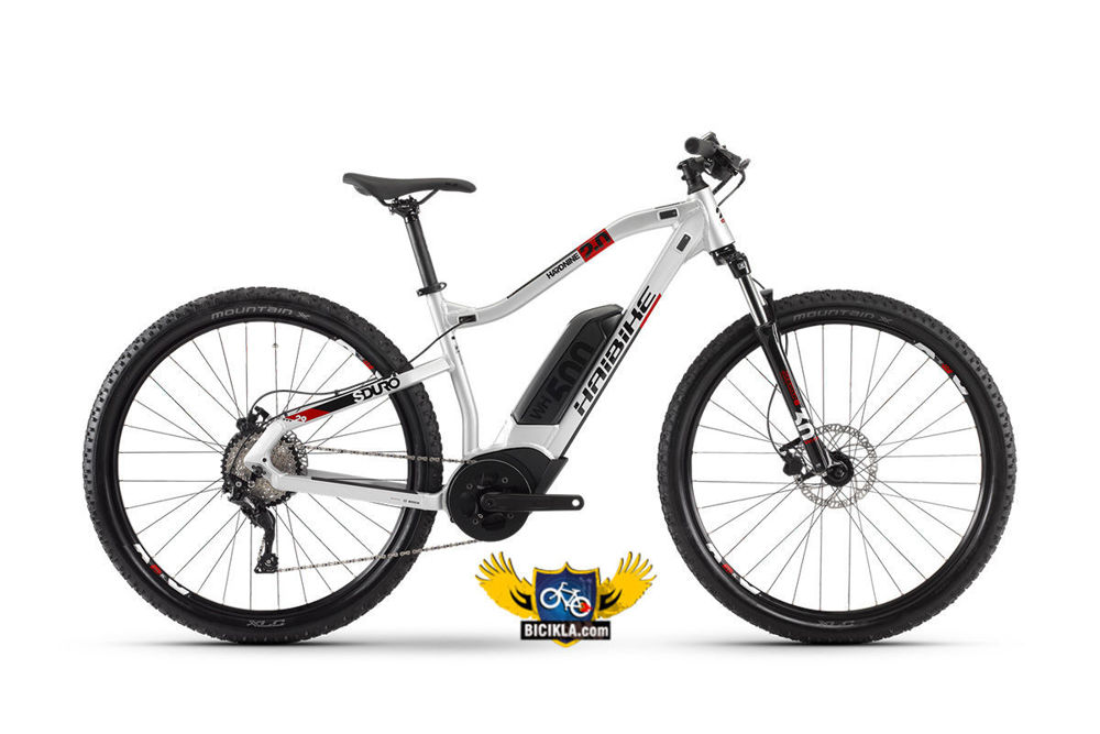 Picture of HaiBike HardNine 2.0 silver/red 2020