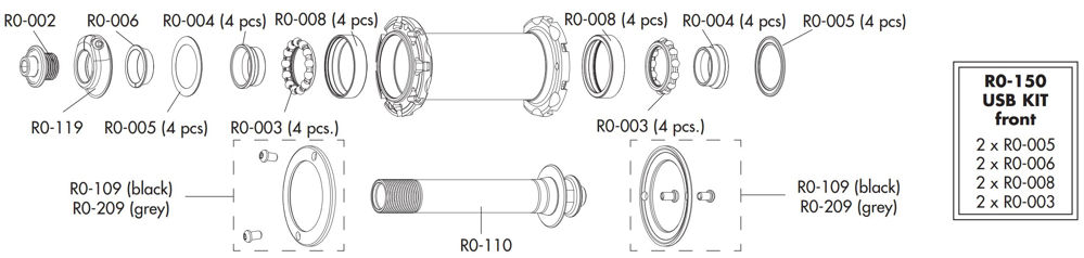 Picture of FULCRUM HUB KIT USB FRONT R0-150