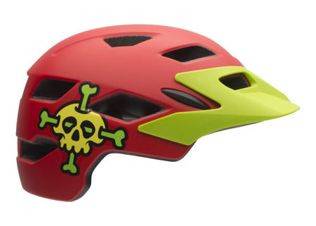 Picture of KACIGA BELL SIDETRAK CHILD RED SKULLY UNI
