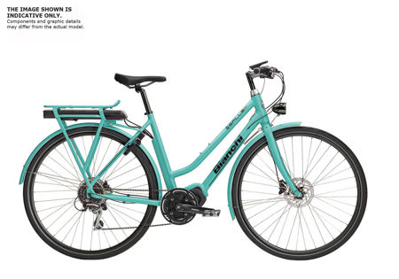 Picture of BIANCHI E-SPILLO LUXURY LADY ALTUS 1x9 SHIMANO E5000 418wH 1D-CK16