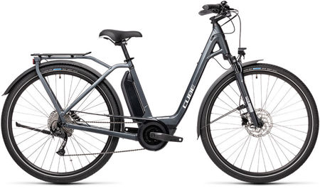 Picture of CUBE TOWN SPORT HYBRID ONE 400 IRIDIUM´N´GREY 2021 EASY ENTRY