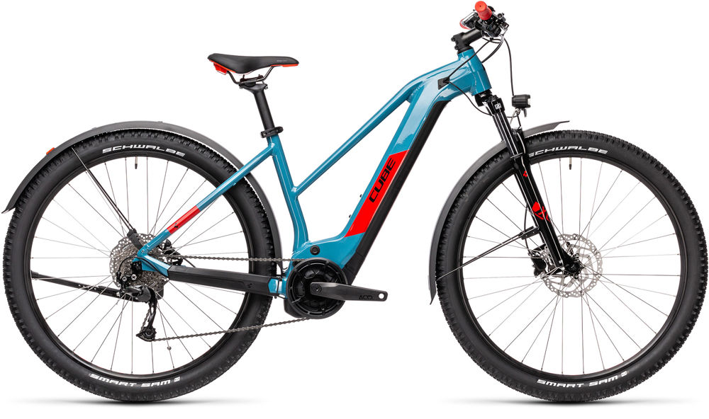 Picture of CUBE REACTION HYBRID PERFORMANCE 400 ALLROAD BLUE´N´RED 2021 TRAPEZE