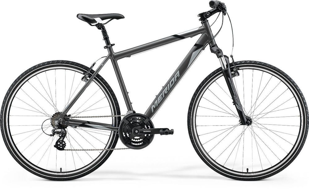 Picture of Merida Crossway 10-V Grey 2021.